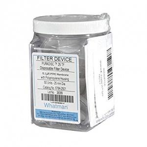 Whatman 6784-2501 PTFE Puradisc 25 Syringe Filter, 0.1 Micron